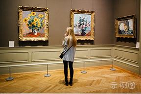 外国油画展览厅